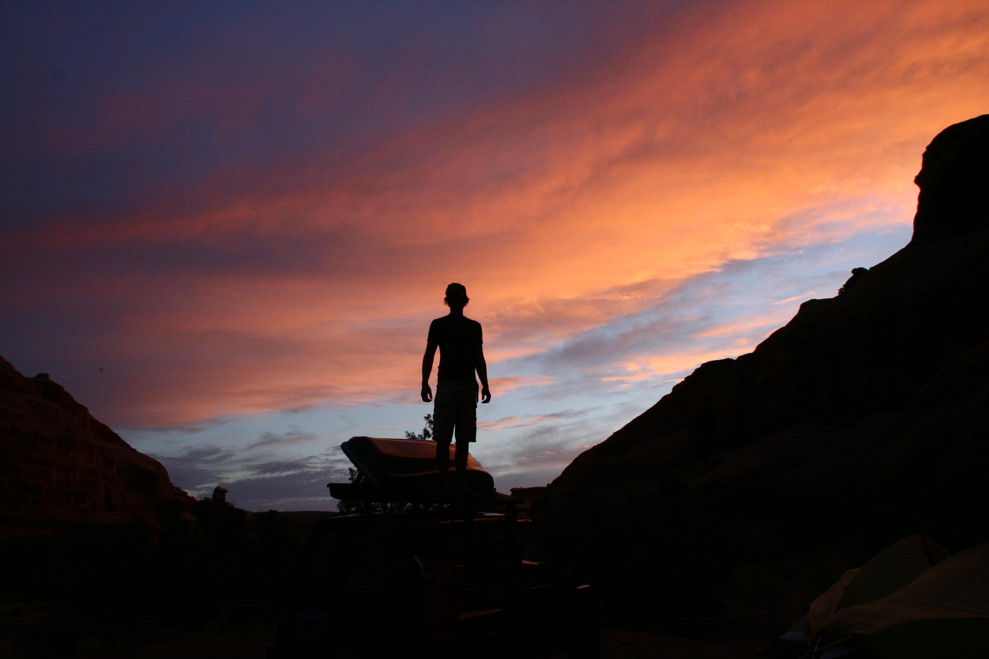 Sunset at Gemini Bridges, Moab