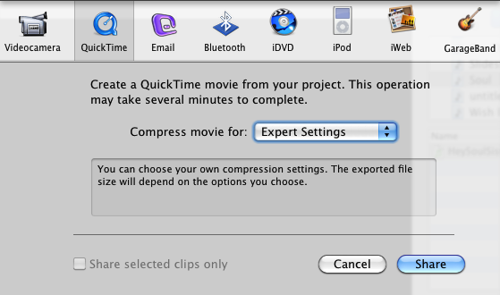 Convert MOV to MP4 with Mac iMovie HD – Joel Gerard